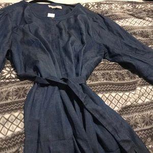 Size 24 never worn Loft plus denim dress